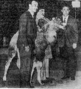 24 aprile del 1959 debutto al circo Togni tra i giocatori della Fiorentina Cervato e Chiappella