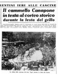 7 maggio 1959 Canapone sfila alle Cascine per la festa del grillo